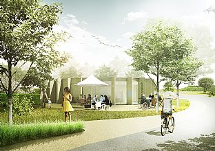 C.F. Møller Landscape designs new park for London - C.F. Møller. Photo: C.F. Møller