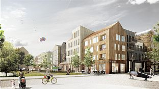 C.F. Møller is designing 400 timber-built flats at Norrtälje harbour - C.F. Møller