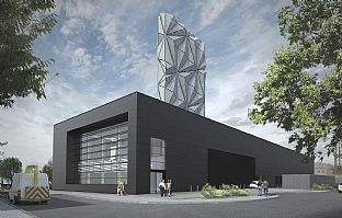 Greenwich Peninsula Low Carbon Energy Centre revealed - C.F. Møller. Photo: C.F. Møller