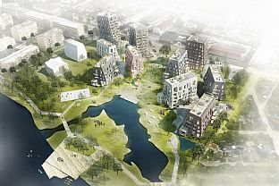 ÖRNSRO TIMBER TOWN: C.F. MØLLER WINS COMPETITION IN ÖREBRO  - C.F. Møller. Photo: C.F. Møller