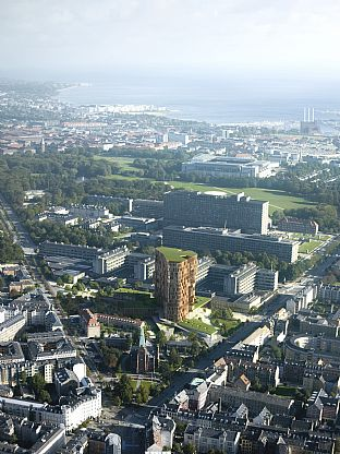 Science tower and urban park in the heart of Copenhagen  - C.F. Møller. Photo: Arkitektfirmaet C. F. Møller/Mir