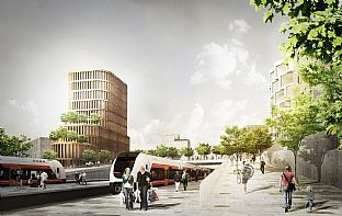 Urban Transformation Plan for Vestby - C.F. Møller. Photo: C.F. Møller & JaJa
