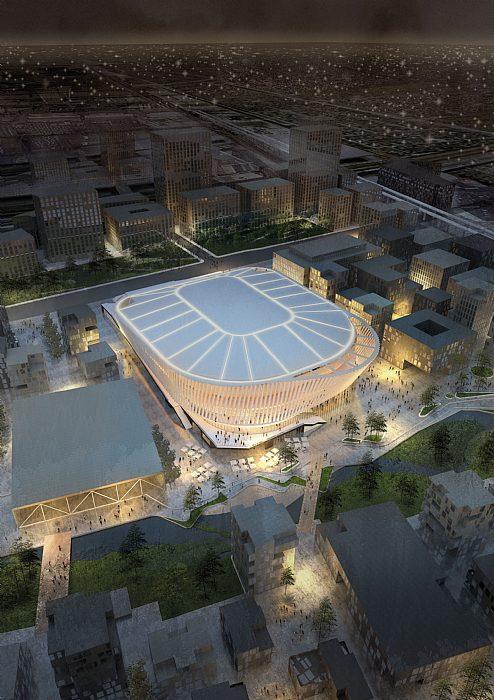 Open Foyer Copenhagen : Copenhagen arena projects c f møller