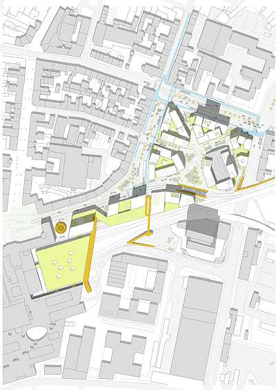 Dsb areas and bus terminal in aarhus projects c f m ller for Dsb landscape architects