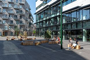 Brewery site made livable in Denmark - C.F. Møller. Photo: Julian Weyer