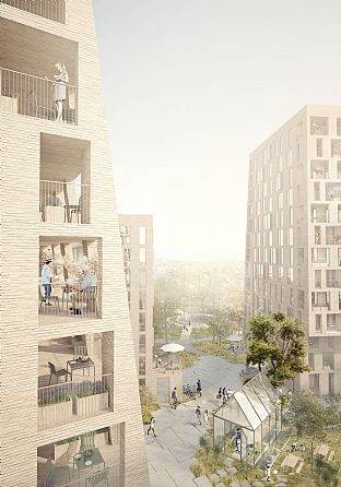C.F. Møller Architects and BRUT win competition in Belgium - C.F. Møller. Photo: C.F. Møller Architects & BRUT