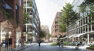 C.F. Møller Architects and MT Højgaard are planning to cover Aarhus railway site with a car-free urban quarter - C.F. Møller. Photo: C.F. Møller Architects