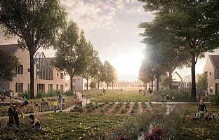 C.F. Møller Architects unveil proposal for re-imagining the Garden City - C.F. Møller. Photo: WyrdTree