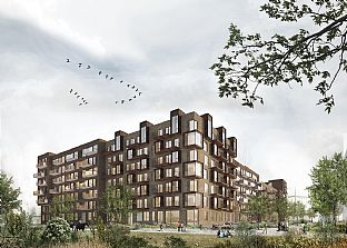 C.F. Møller is designing a residential block in Ørestad - C.F. Møller. Photo: C.F. Møller