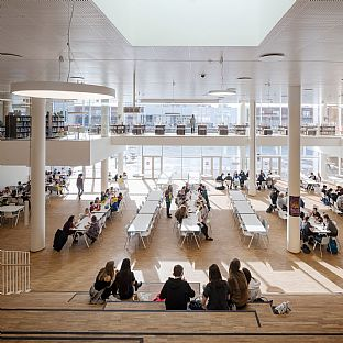 Double sustainability win for Copenhagen International School - C.F. Møller. Photo: Adam Mørk