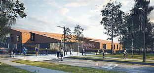 Green light for new London Resource Centre - C.F. Møller. Photo: C.F. Møller Architects