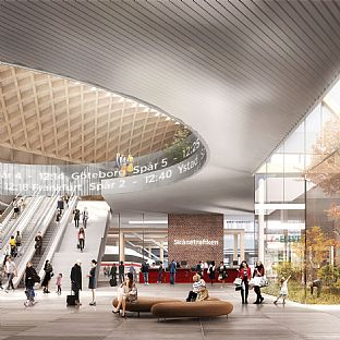 Lund Central Station  - Insights: Urban Development of Station Areas - C.F. Møller. Photo: Luxigon