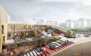 MT Højgaard and C.F. Møller are to construct the New Islands Brygge School - C.F. Møller. Photo: C.F. Møller