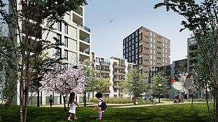Nyt projekt for Swan Housing Association - C.F. Møller. Photo: C.F. Møller Architects