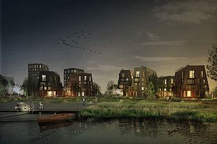 ÖRNSRO TIMBER TOWN – C.F. MØLLER WINS COMPETITION IN ÖREBRO  - C.F. Møller. Photo: C.F. Møller