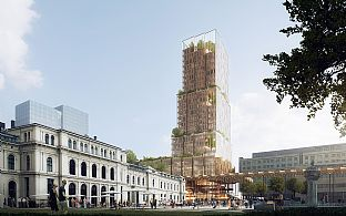Reiulf Ramstad Arkitekter in collaboration with C.F Møller Architects wins an international competition for a new high-rise building and station in the centre of Oslo - C.F. Møller