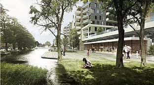 Søtorvet - a new urban landscape in Silkeborg - C.F. Møller. Photo: C.F. Møller