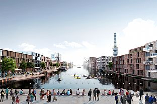 Team C.F. Møller wins ambitious urban development project - C.F. Møller. Photo: C.F. Møller Architects