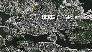 The three competition sites in Stockholm - Competition for Stockholms new landmark - C.F. Møller