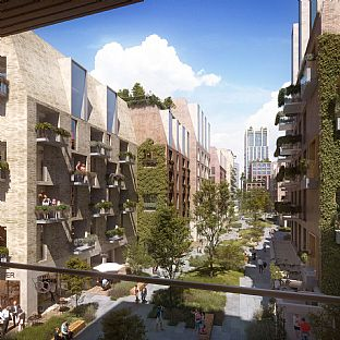 Vision for a new green neighbourhood announced - C.F. Møller. Photo: Erik Nord Arkitekter