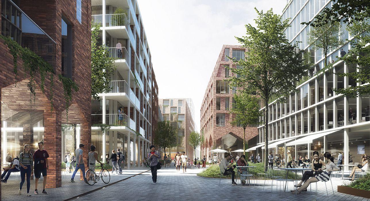 C f m ller architects og mt h jgaard vil d kke aarhus for Dsb landscape architects