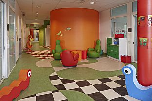 Ålesund Hospital, new paediatric unit. C.F. Møller. Photo: Kim Muller