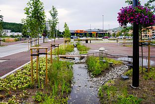 Ålgård centrum. C.F. Møller. Photo: C.F. Møller Architects in collaboration with Haugen/Zohar Arkitekter and Dronninga landskap