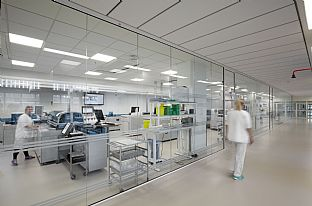 Aarhus University Hospital (AUH) - laboratories. C.F. Møller. Photo: Thomas Mølvig