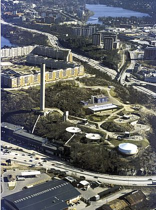 Biogas facilities, Henriksdals sewage works in Stockholm. C.F. Møller