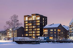 Kajstaden Tall Timber Building. C.F. Møller. Photo: Nikolaj Jakobsen