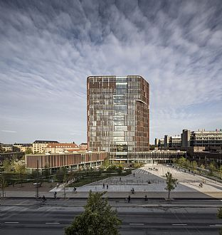 Maersk Tower, extension of the Panum complex at the University of Copenhagen. C.F. Møller. Photo: Adam Mørk