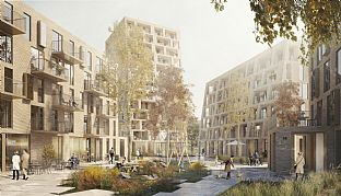 The New City, Oostende. C.F. Møller. Photo: C.F. Møller Architects in collaboration with BRUT