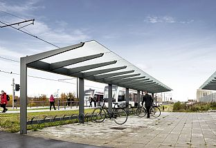 Urban furniture for the Aarhus Light Rail. C.F. Møller. Photo: Kirstine Mengel