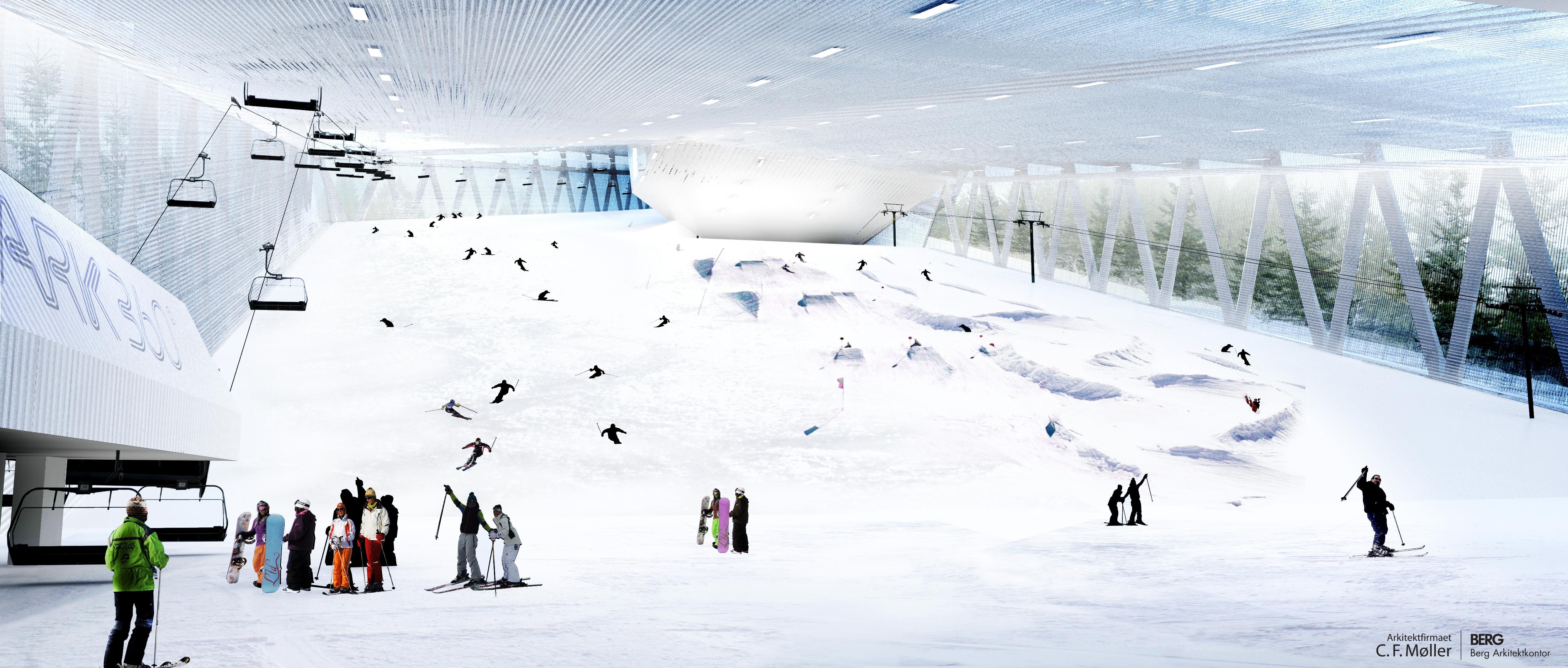 the world's most complete indoor ski park - press - c.f. møller